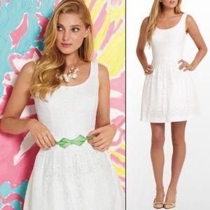 Lilly Pulitzer Posey White Daisy Lane Lace Dress